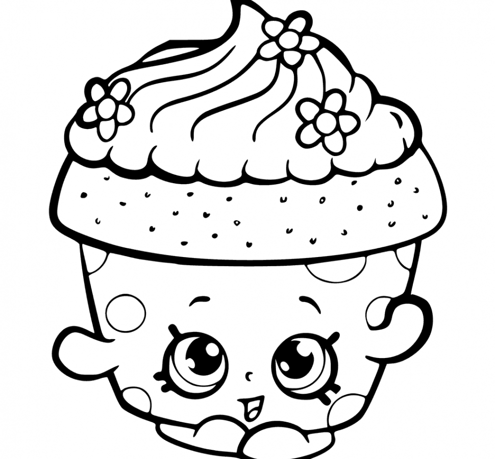 Shopkin Cupcake Coloring Pages