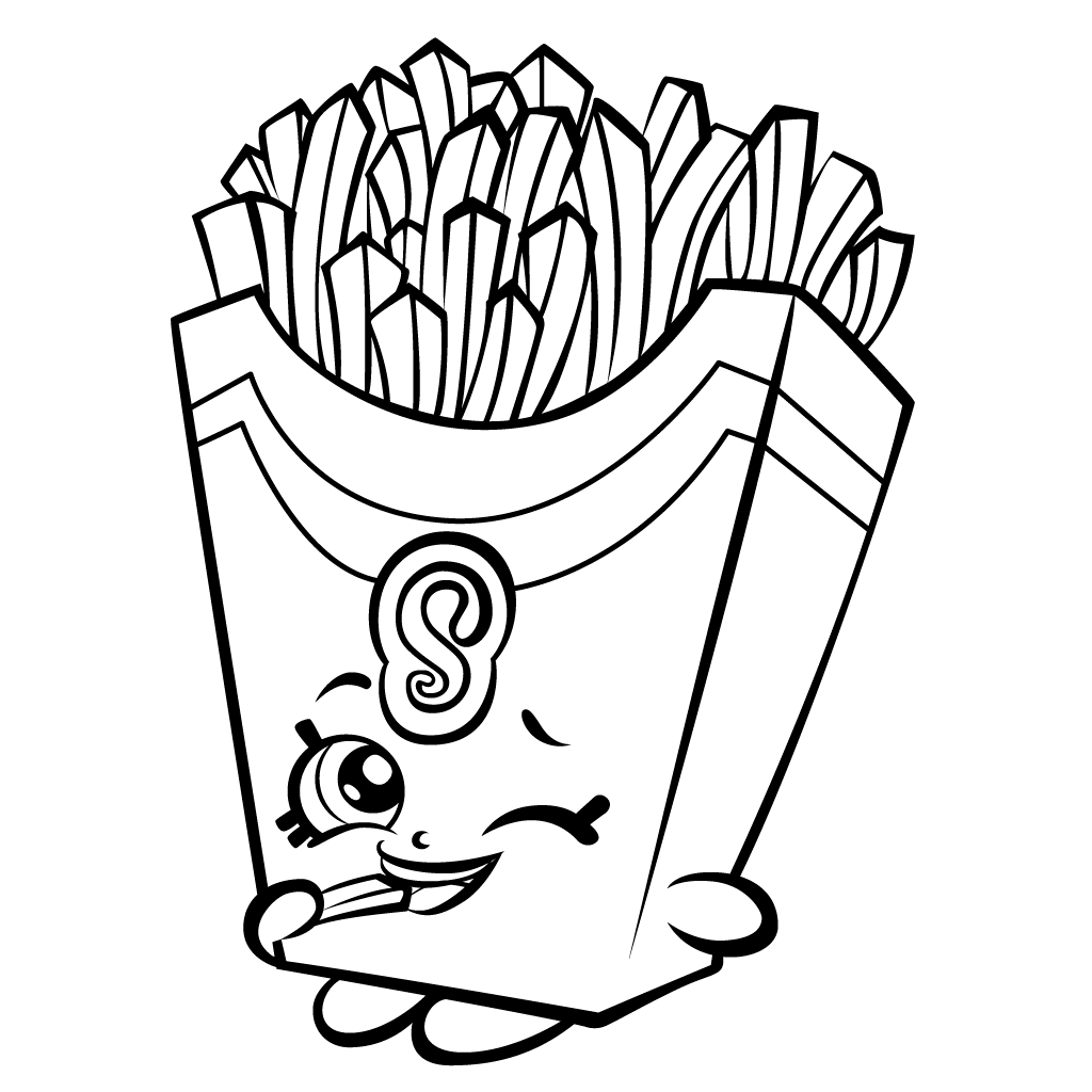 Shopkin French Fries Food Coloring Pages