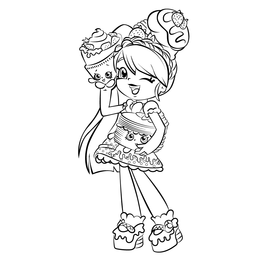 Shopkins Doll Coloring Pages