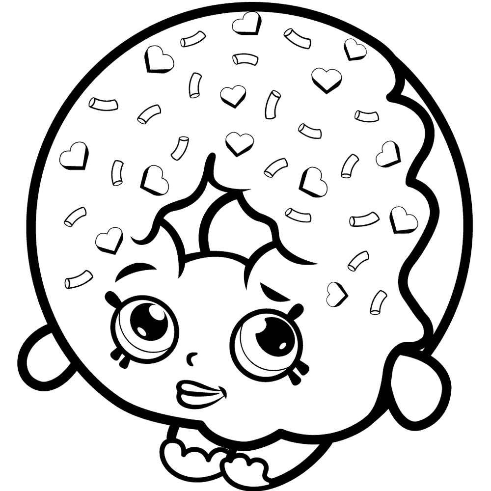 Shopkins Donut Coloring Page