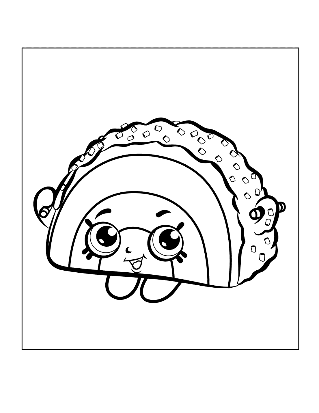 Shopkins Taco Coloring Page