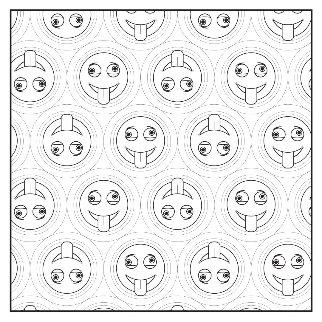 Silly Emoji Coloring Page