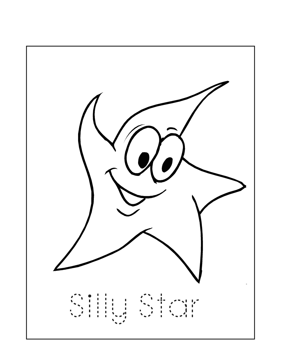 Silly Star Coloring Page