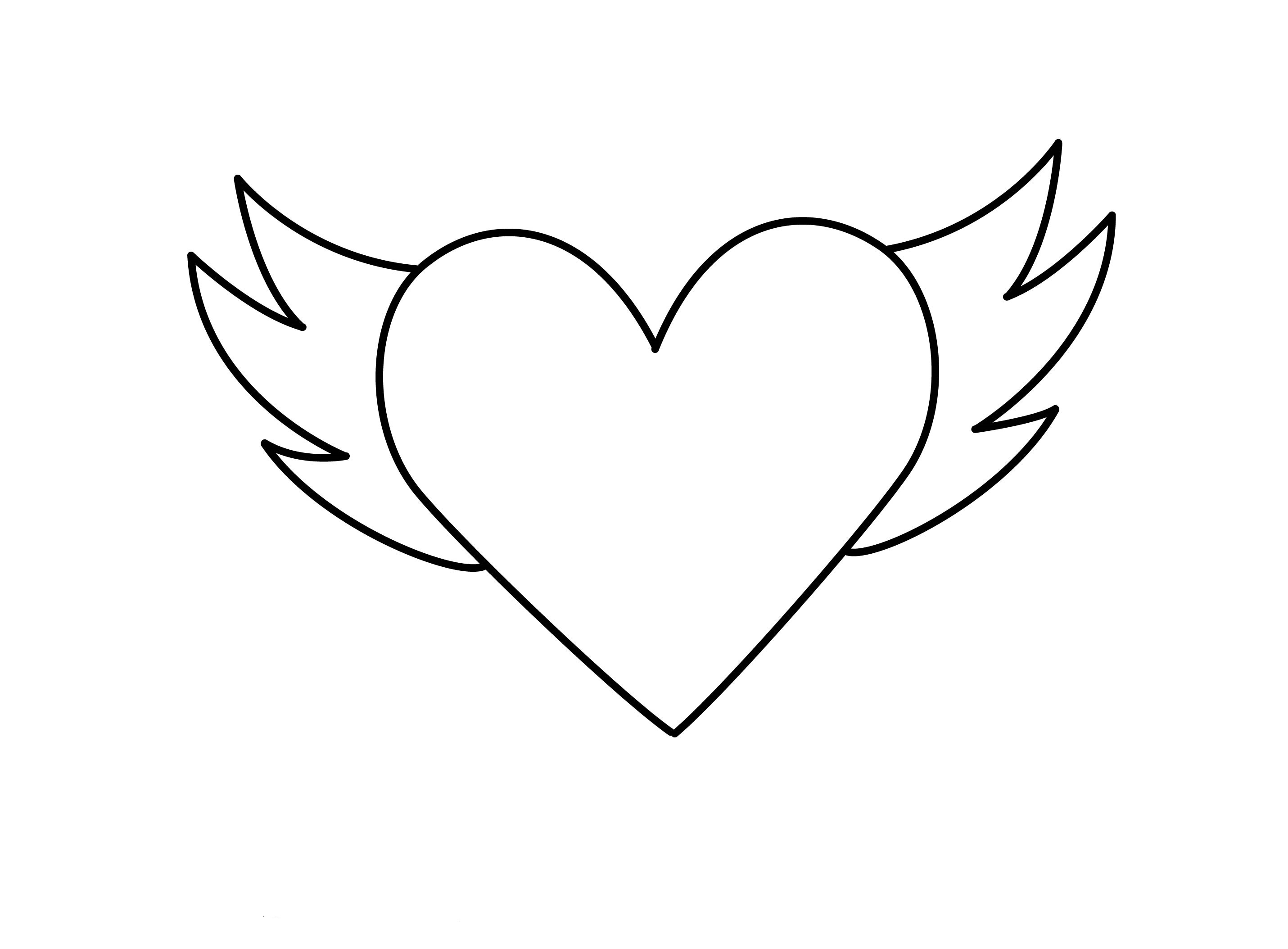 Hearts With Rose Coloring Page | 2108x2861