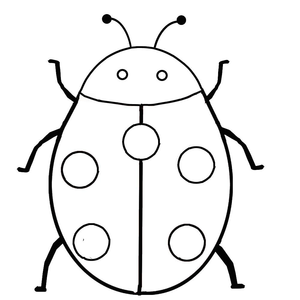Simple Ladybug Coloring Pages
