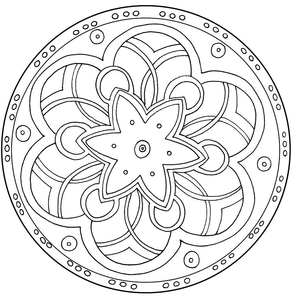 Simple Mandala Pattern for Kids