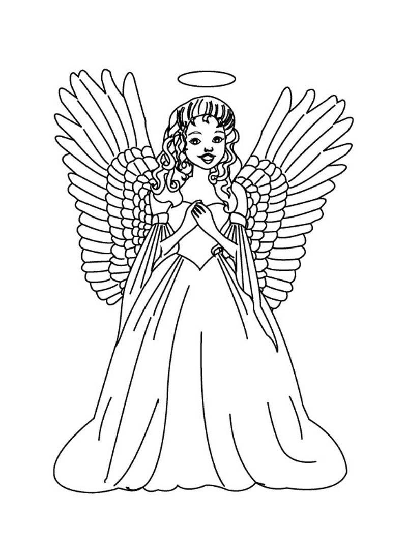 Simple Printable Angel Coloring Page