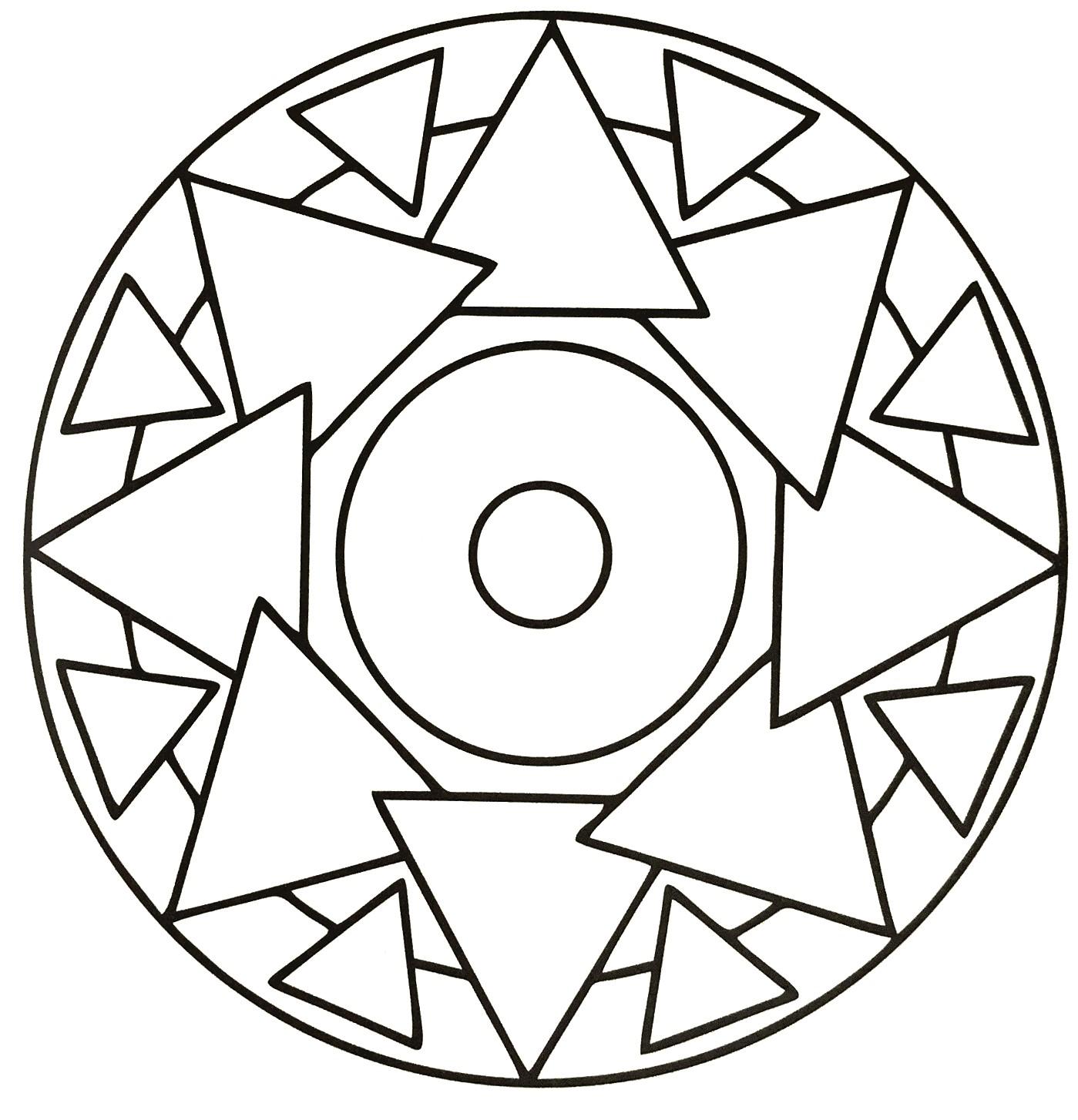 Simple Triangle Mandala for Kids