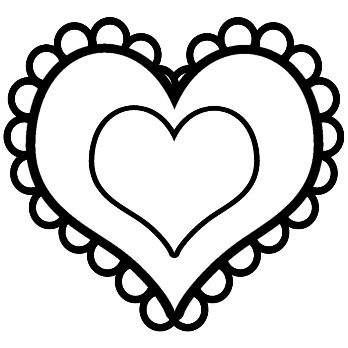 Simple Valentines Day Heart Coloring Pages