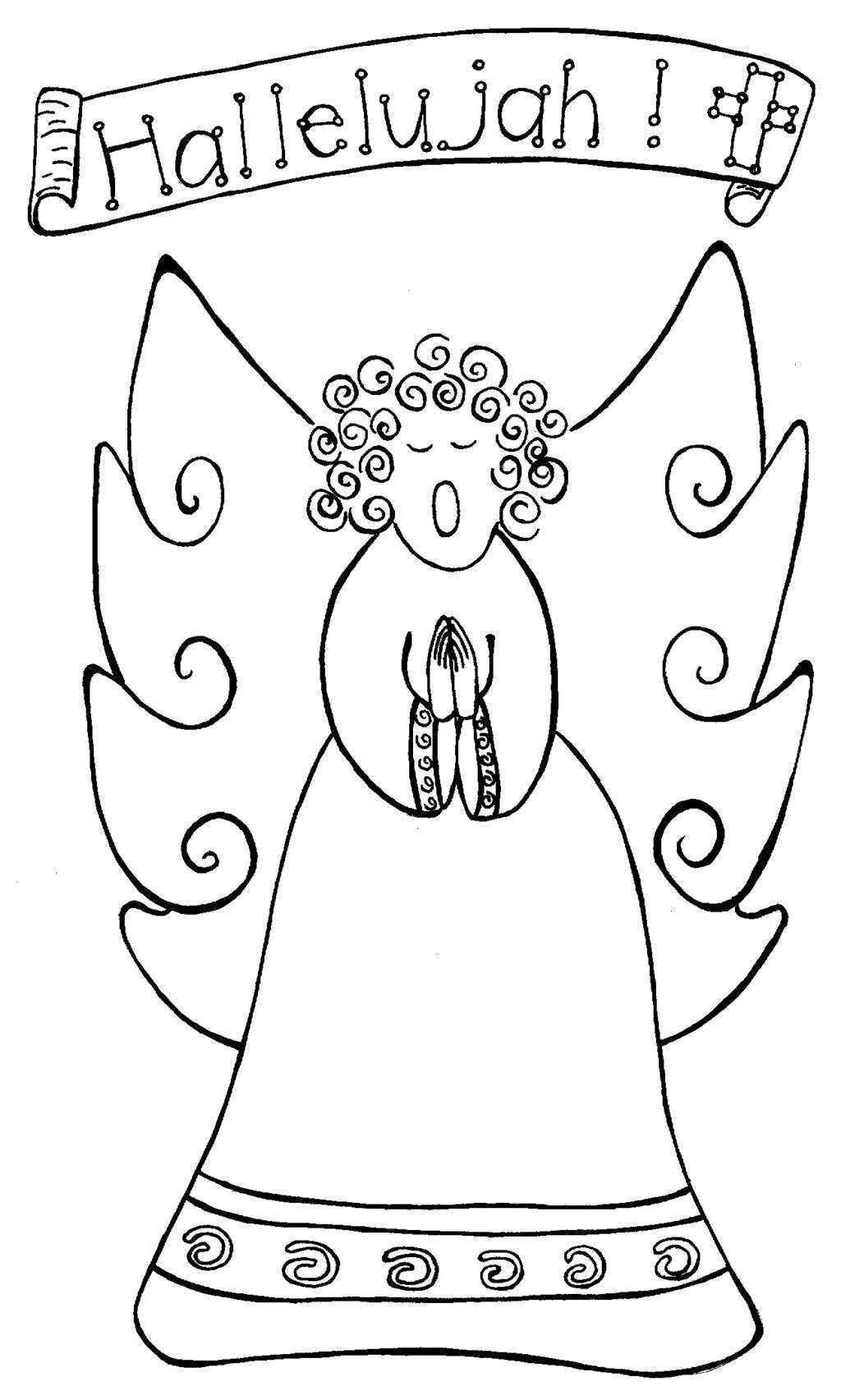 Singing Angel Coloring Page