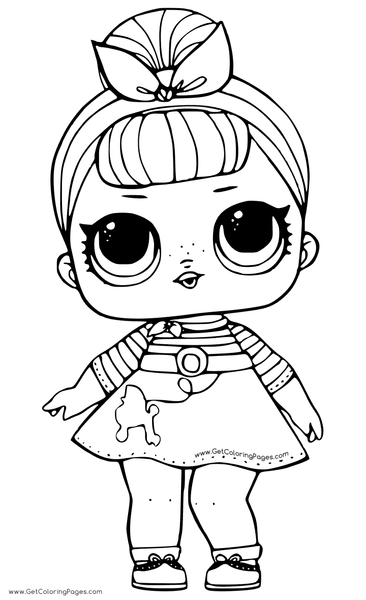 Sis Swing LOL Dolls Coloring Pages