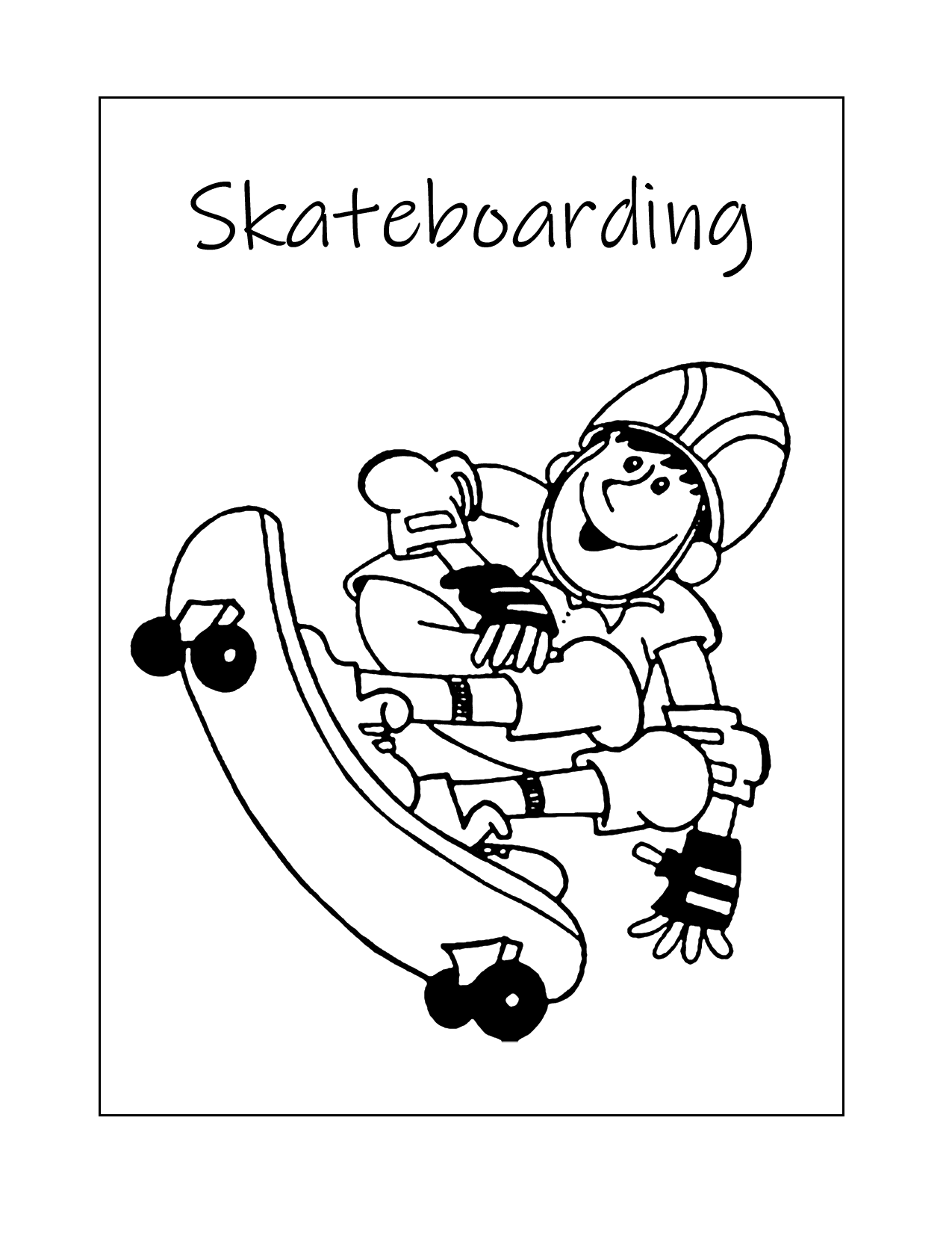 Skateboarding Coloring Page