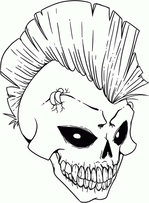 Skullhawk Cool Coloring Pages