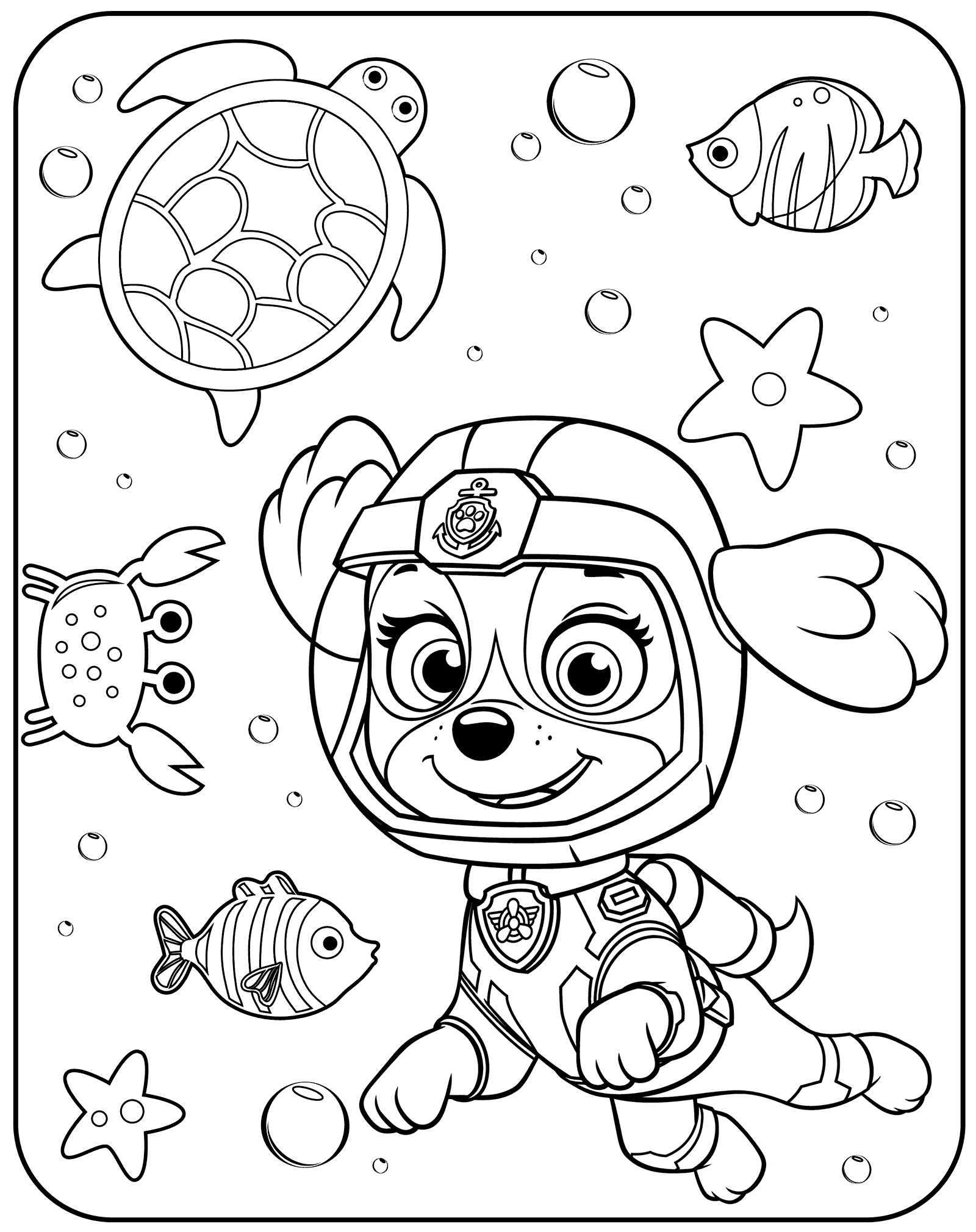 Paw Patrol Coloring Pages – coloring.rocks!