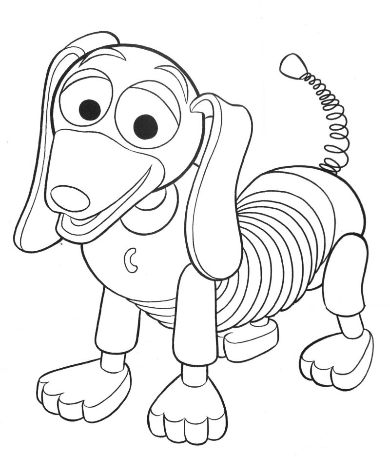 Slinky Dog Toy Story Coloring Pages