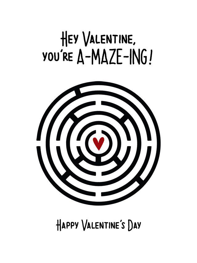 Small Printable Valentines Maze