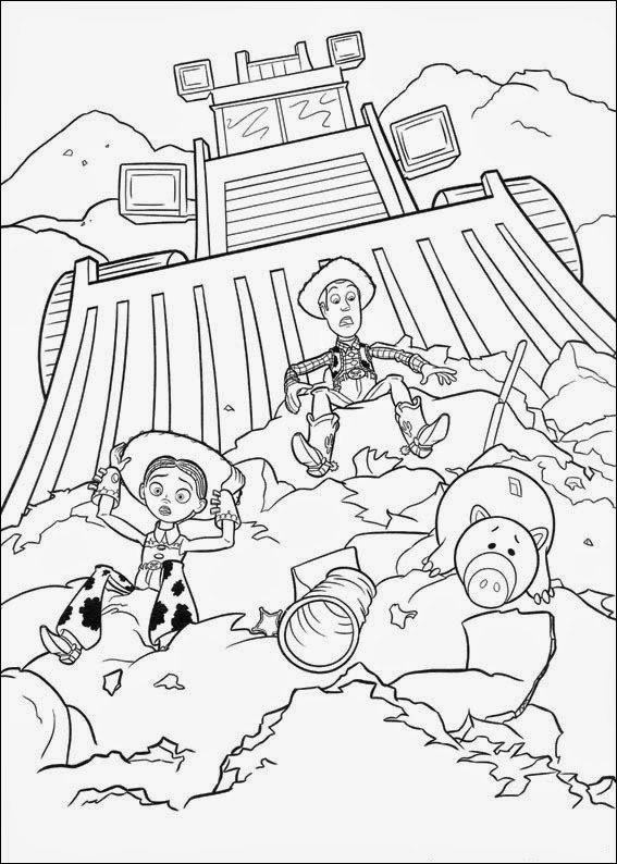 Small Toy Story Coloring Page