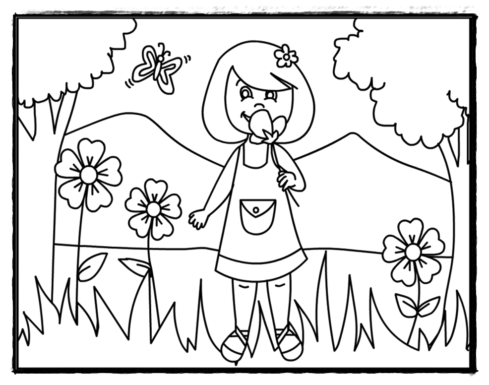 Kindergarten Coloring Pages And Worksheets – Coloring.rocks!