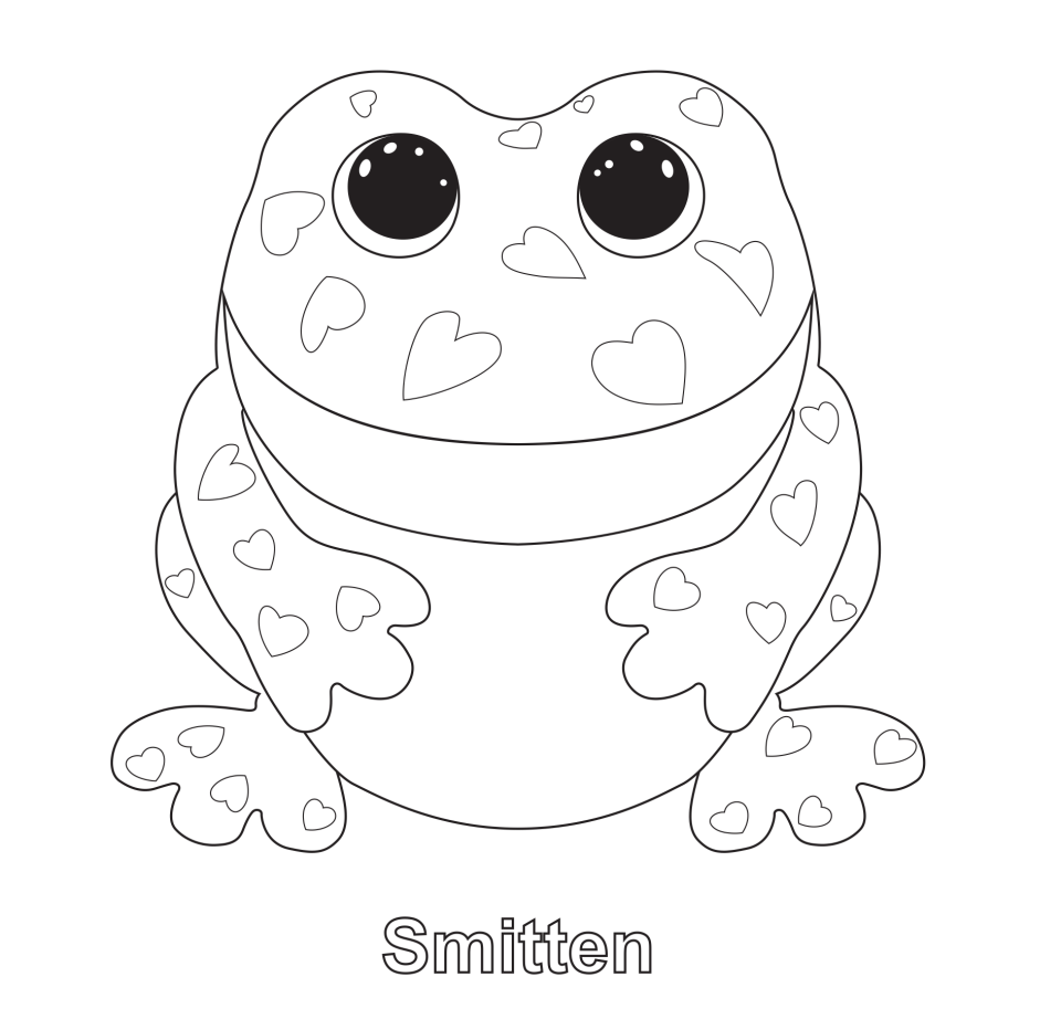 Smitten - Beanie Boo Coloring Pages