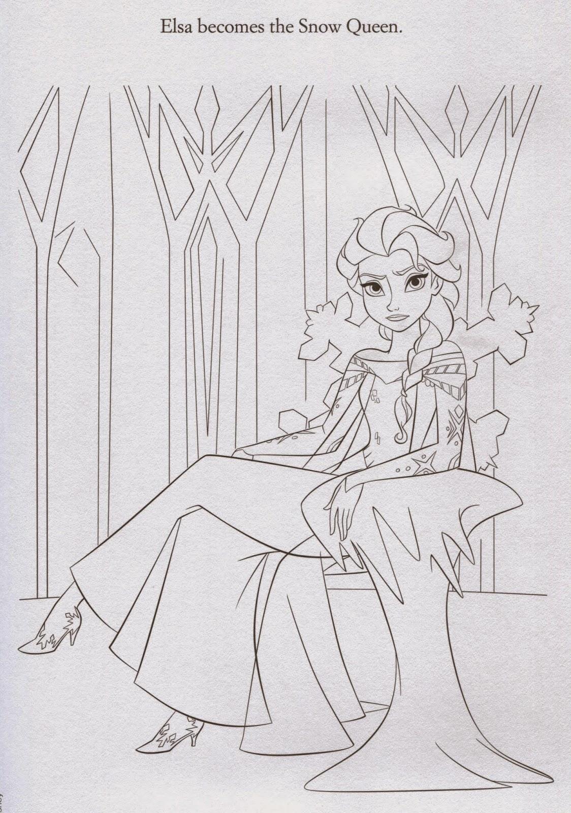 Snow Queen Elsa Coloring Page Printable