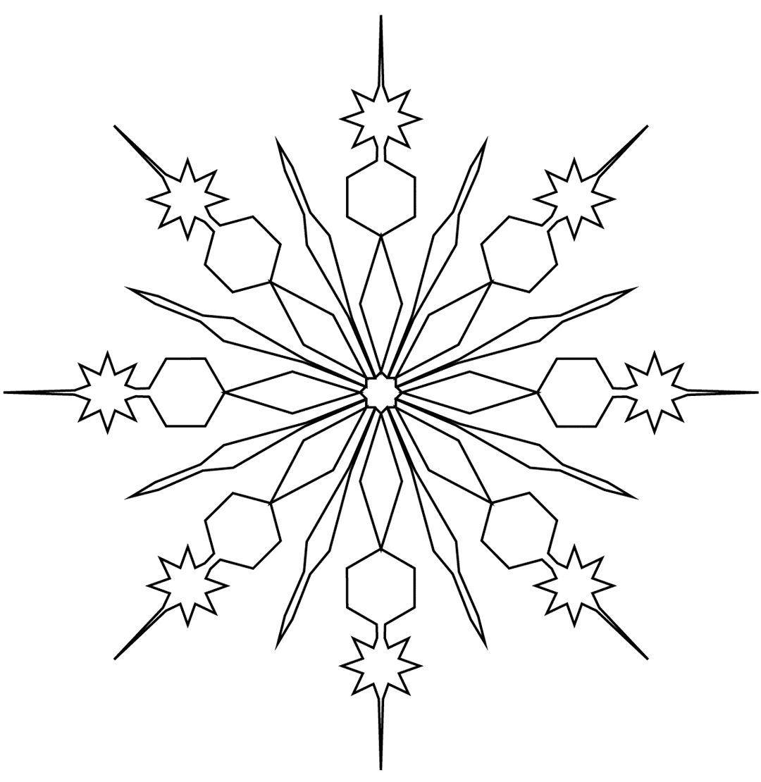 - Snowflake Coloring Pages – Coloring.rocks!