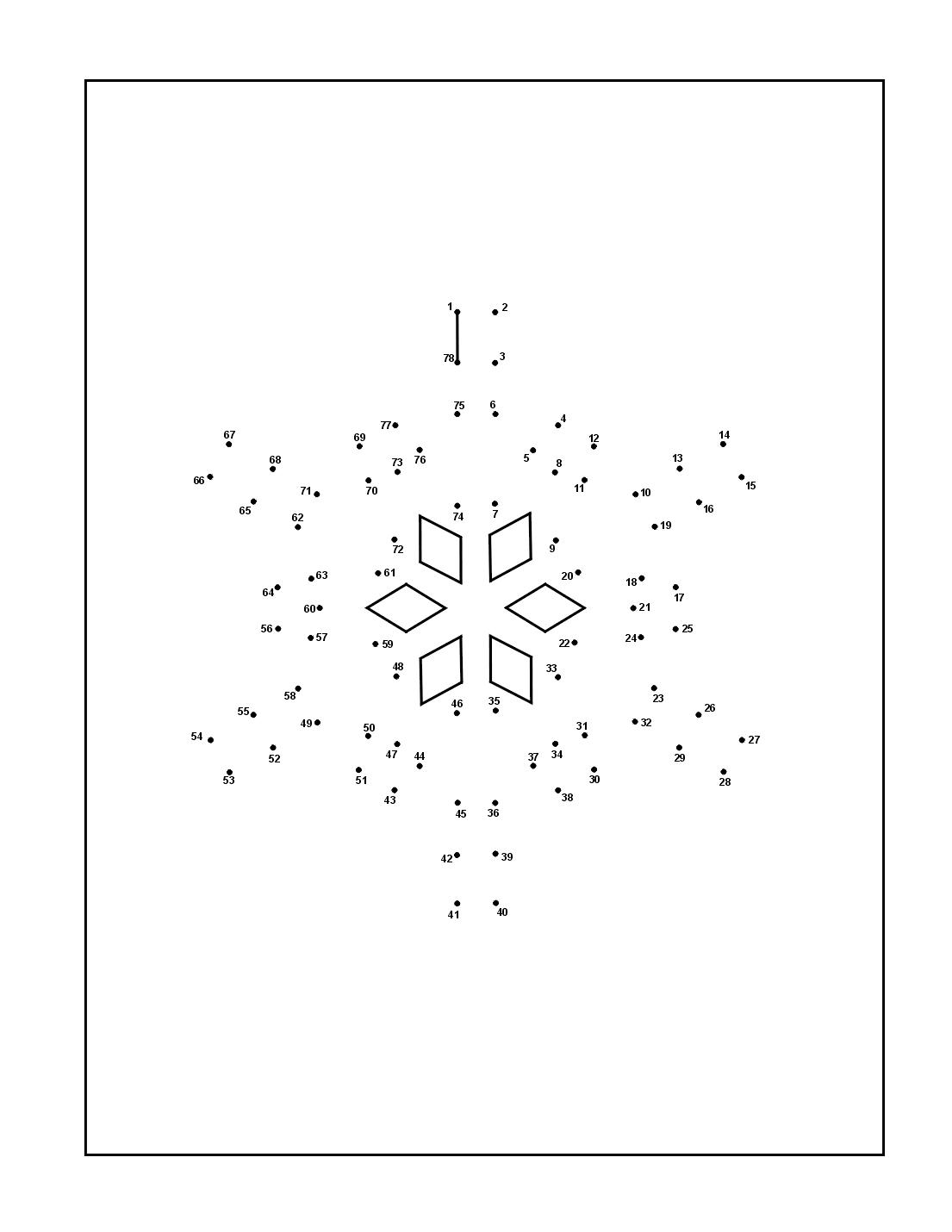 Snowflake Dot To Dot Printable