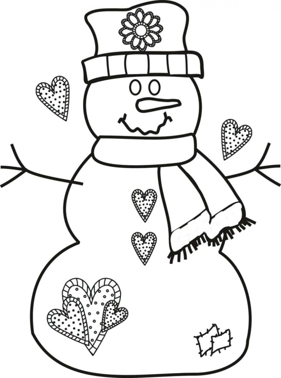 Snowman Christmas Coloring Pages