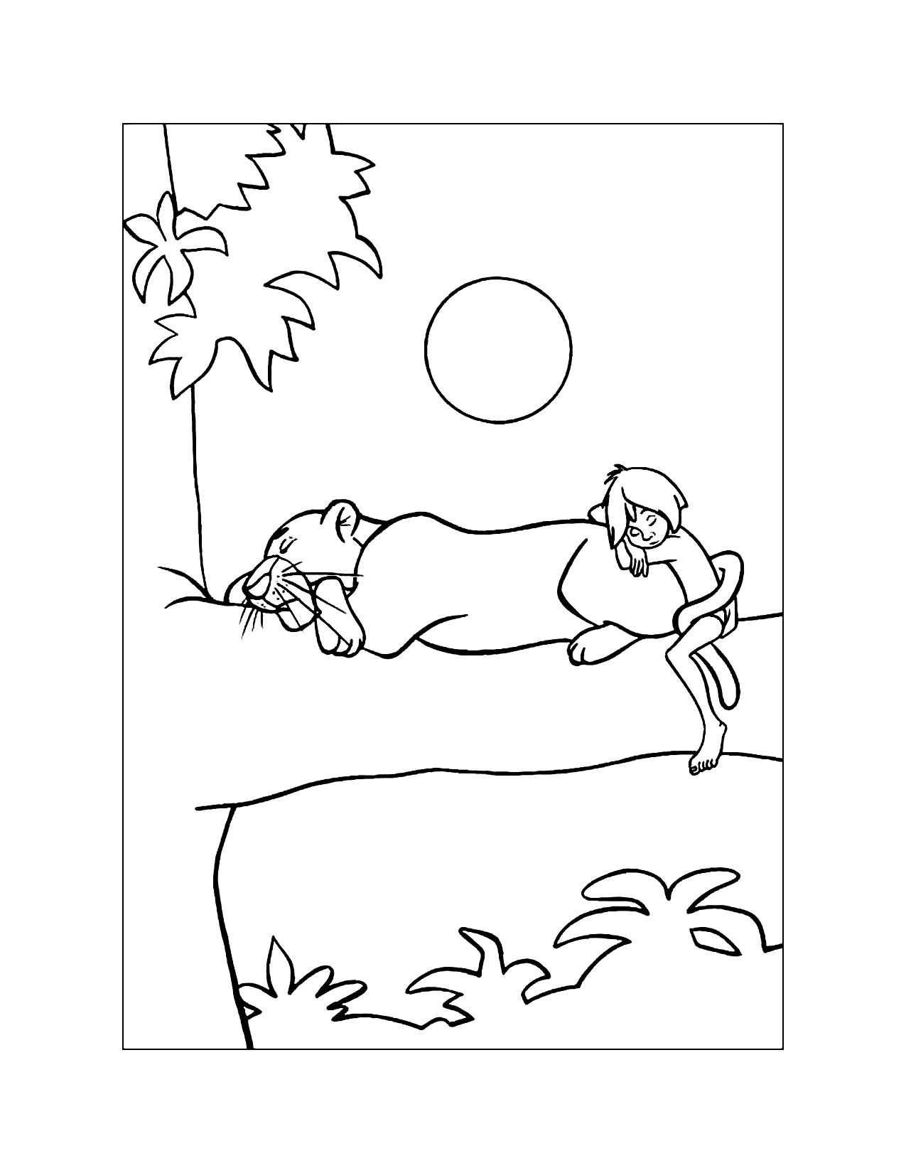 So Cute Jungle Book Coloring Page