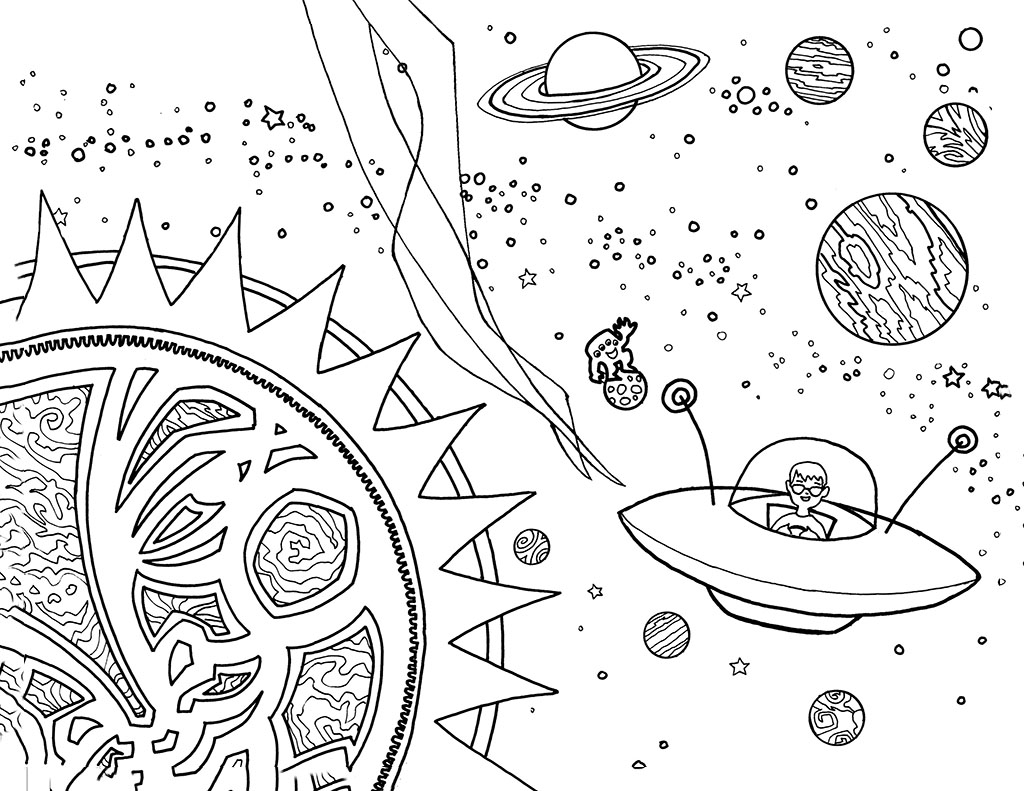 Solar System Coloring Pages for Boys
