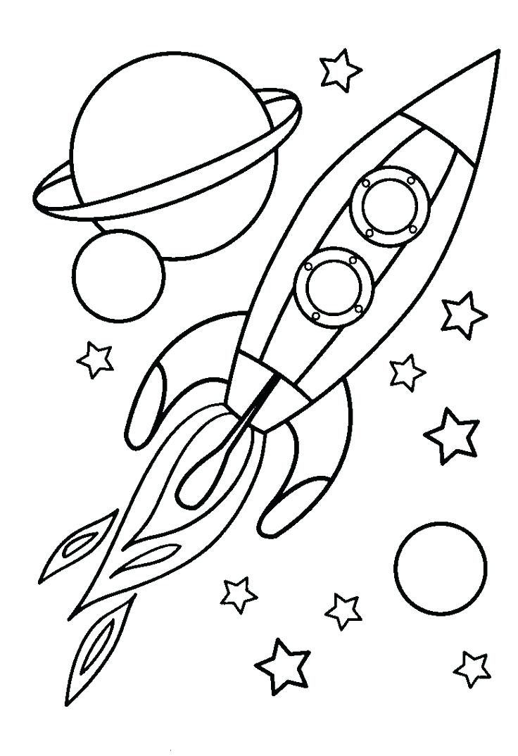 Space Coloring Pages for Boys