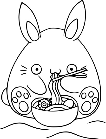 Spaghetti Kawaii Coloring Pages