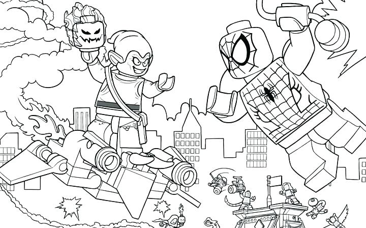 Spiderman Goblin Lego Avengers Coloring Pages