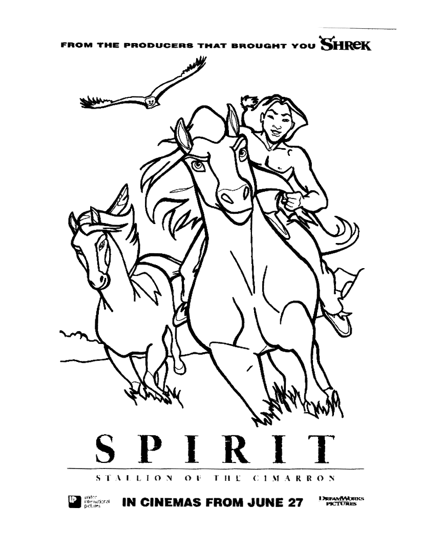 Spirit Coloring Page - Coloring Home | 1067x822