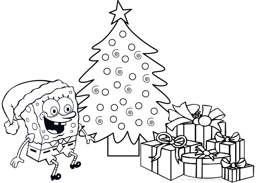 Spongebob Christmas Presents Coloring Pages