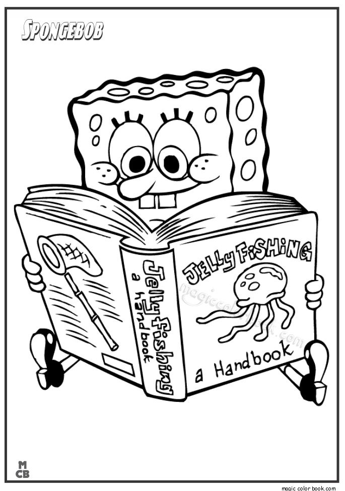 Spongebob Jellyfishing Coloring Pages