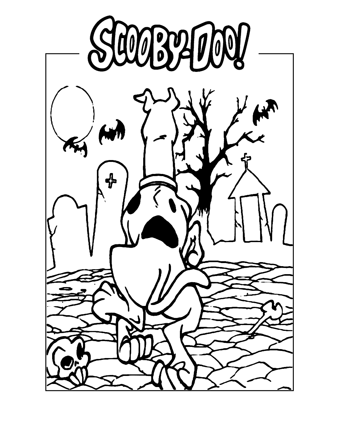 Spooky Scooby Doo Coloring Page