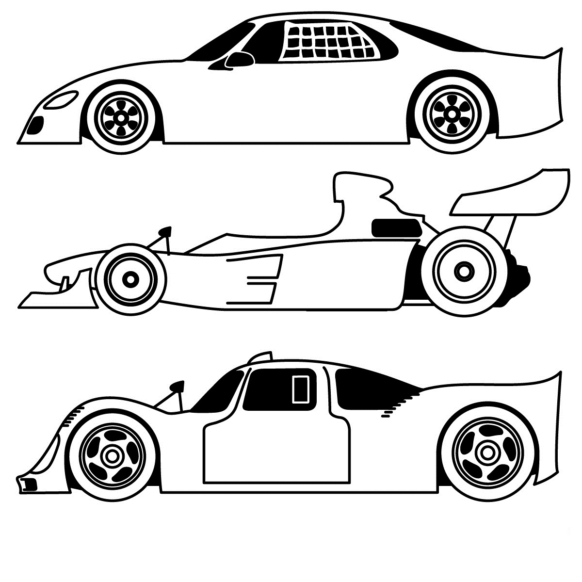 Race Car Coloring Pages – coloring.rocks!
