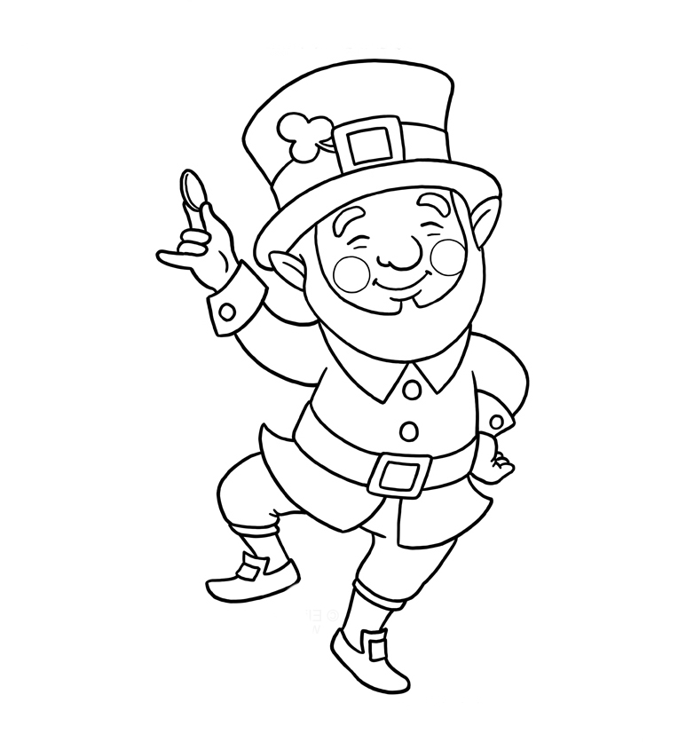 graphic relating to St Patrick's Printable Coloring Pages identify St Patricks Working day Coloring Webpages coloring.rocks!