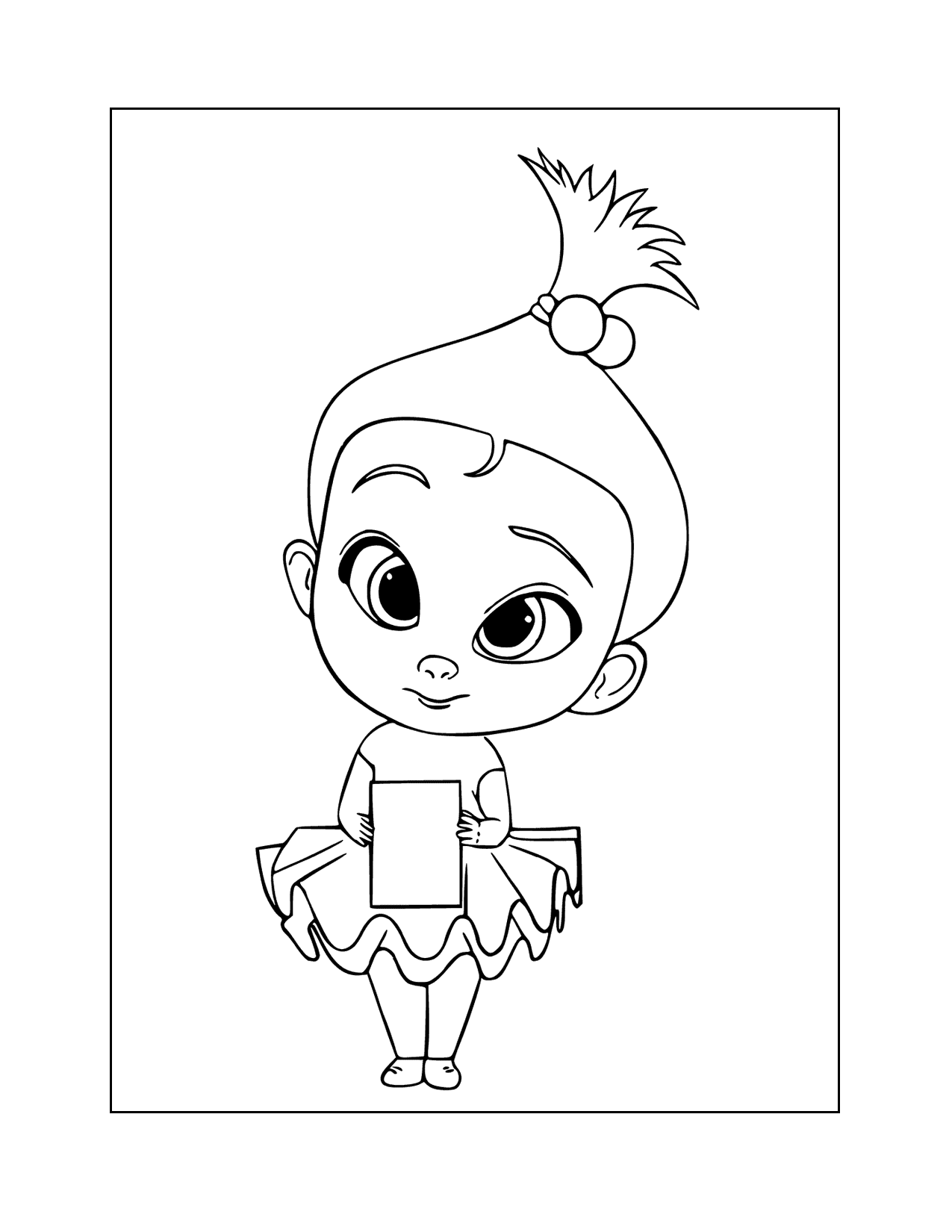 Staci Boss Baby Coloring Page