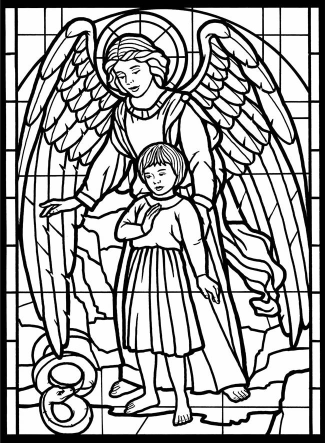 Stained Glass Church Window Coloring Page