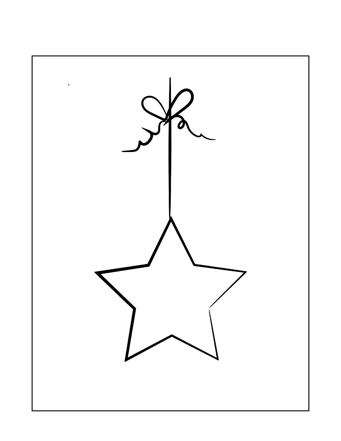 Star Ornament Coloring Page