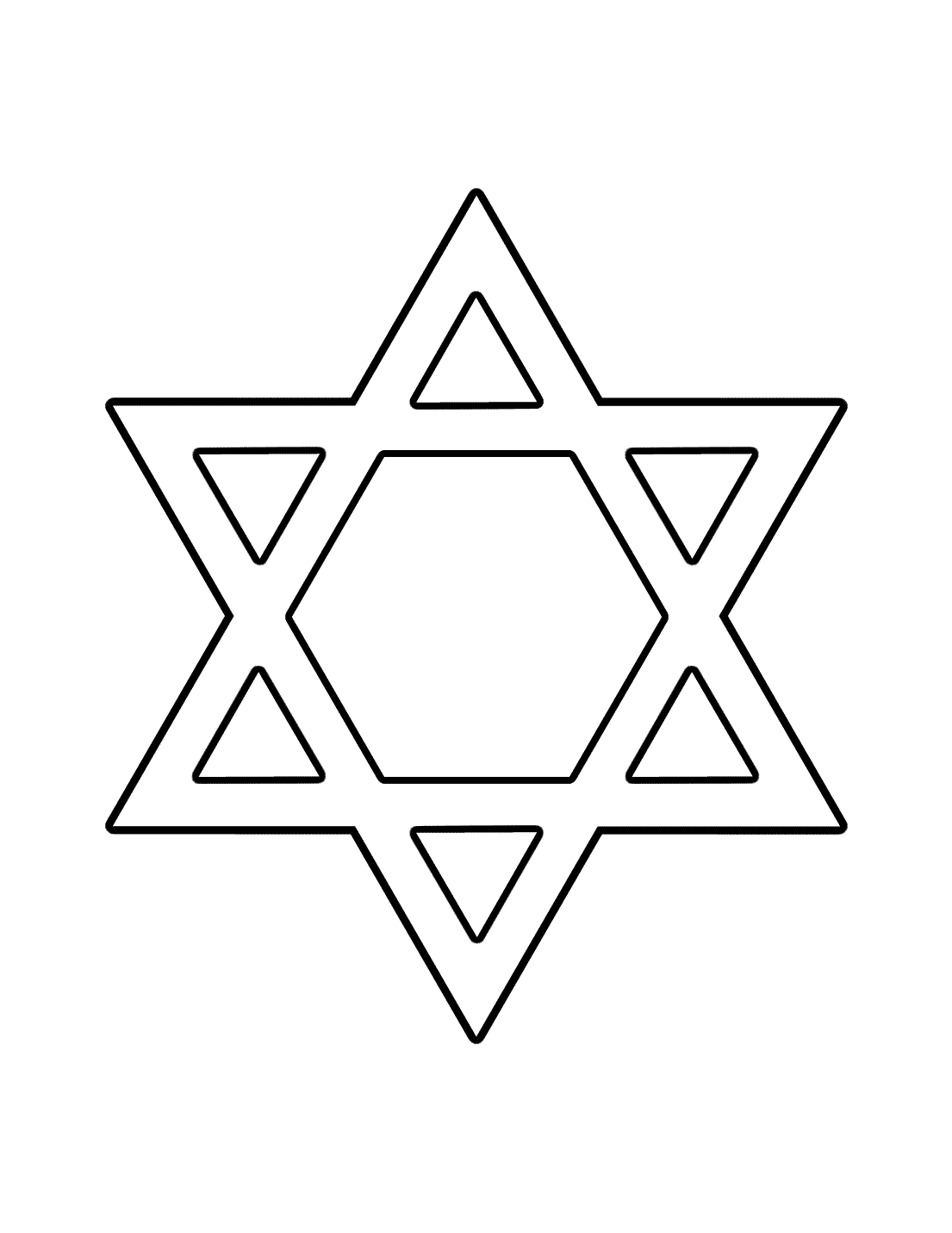 Star Of David Coloring Page