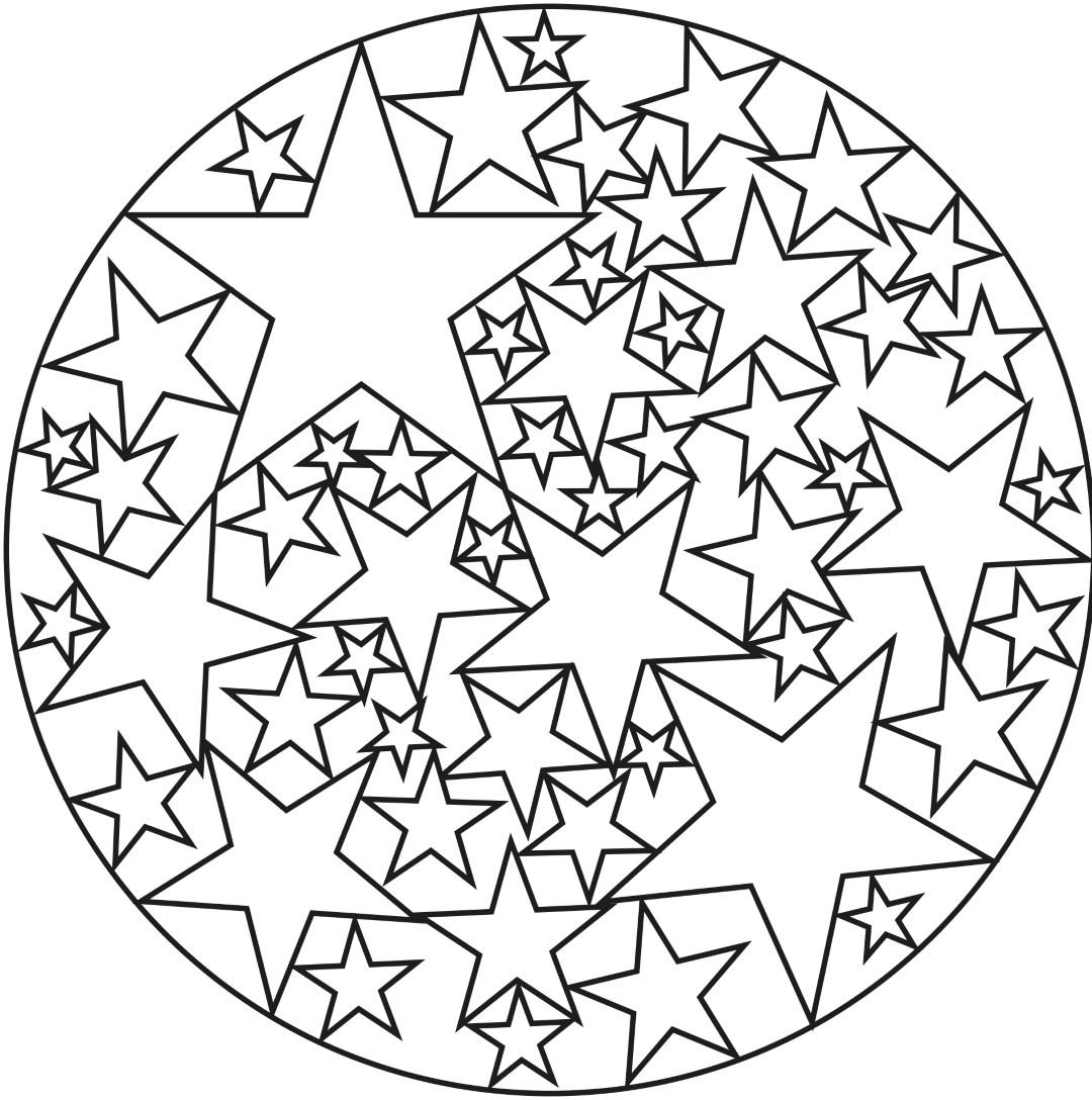 Stars Mandala for Kids