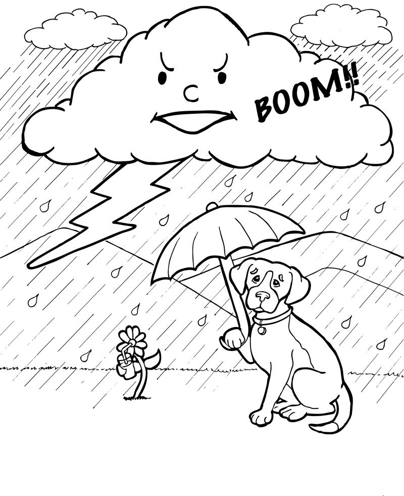 Storm Cloud Coloring Page