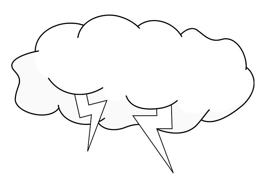 Storm Cloud Coloring Pages
