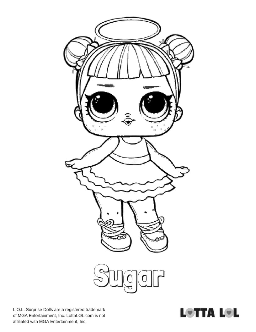 Sugar LOL Doll Coloring Pages