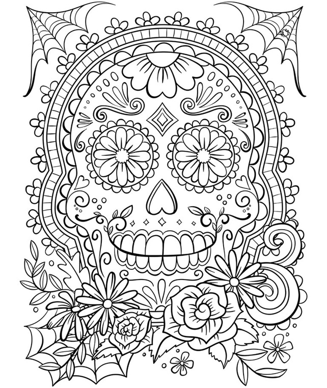 SKULL FREE COLORING PAGES - Coloring Home | 762x642