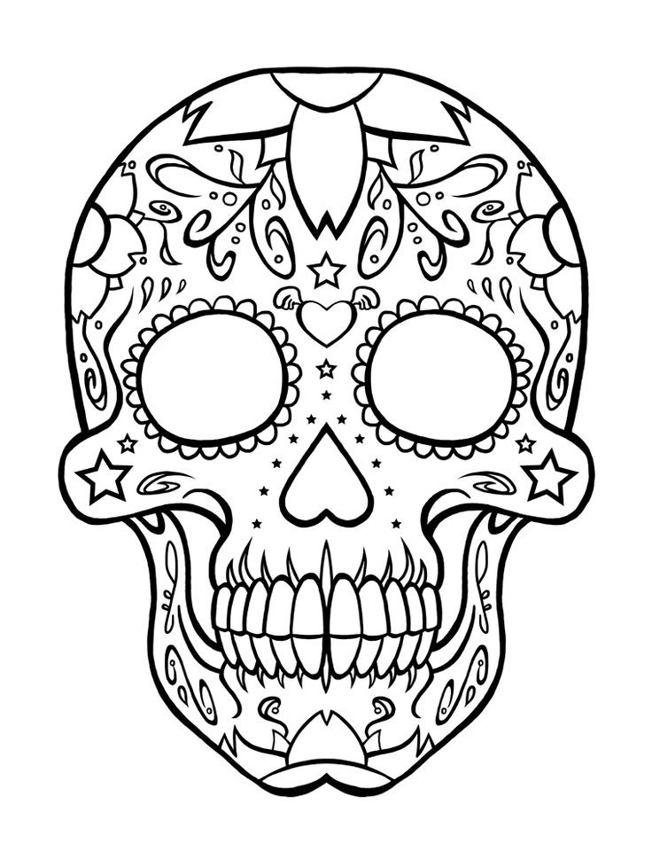 Sugar Skull Coloring Pages – coloring.rocks!