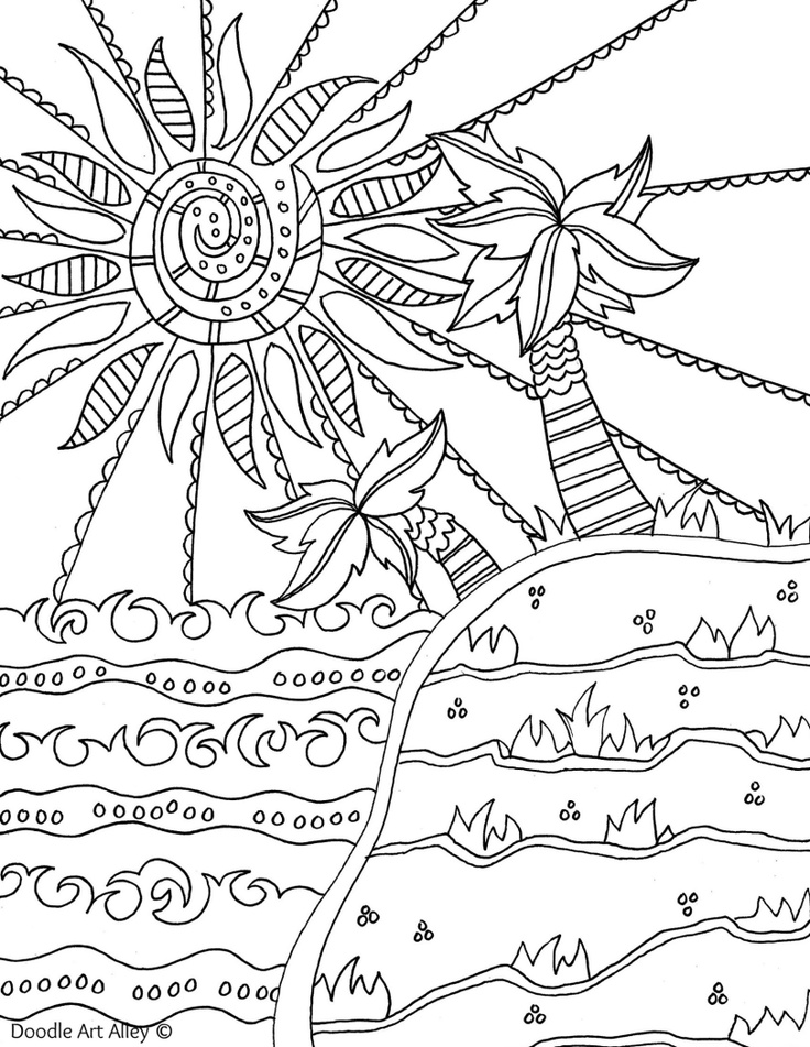 Free printable summertime coloring pages and printables. | Summer ... | 951x736