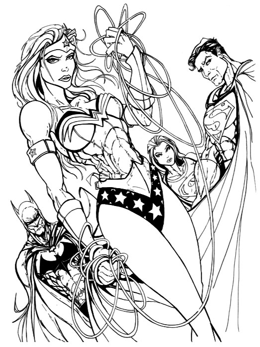 Superhero Coloring Pages - DC Comic Book Characters